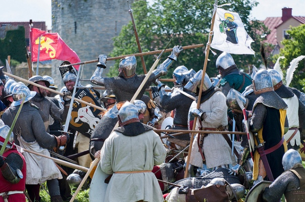 Battle of Wisby 1361: http://www.flickr.com/photos/arkland_swe/6039553468/